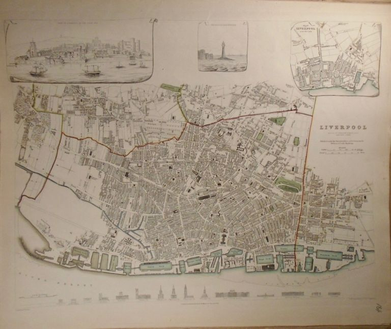 Map of Liverpool. Baldwin, Gradoc