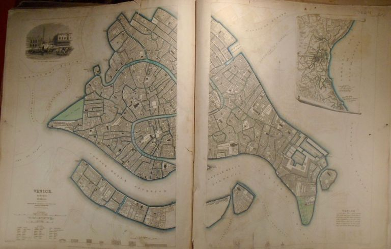Map of Venice on Two Separate Sheets. Baldwin, Gradoc.