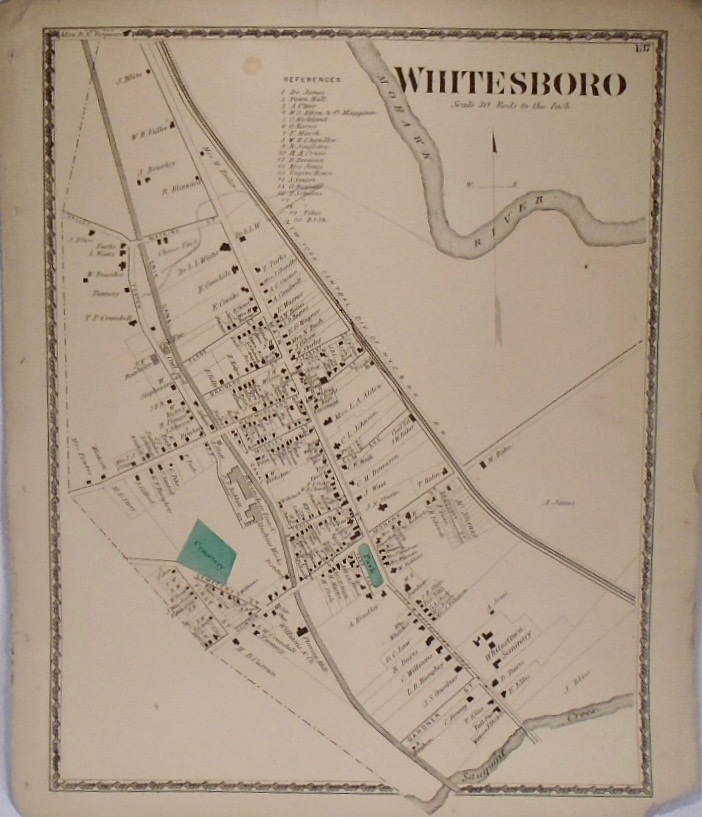 Map fo Whitesboro, New York. D. G. BEERS
