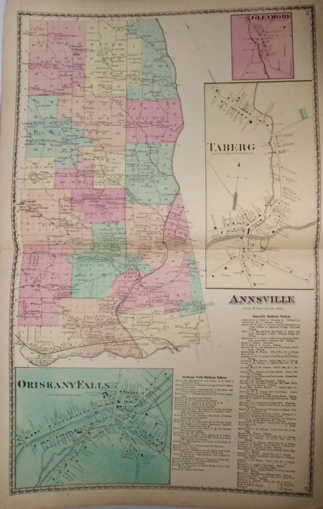Map of Annsville, Oriskany Falls, and Taberg, New York. D. G. BEERS