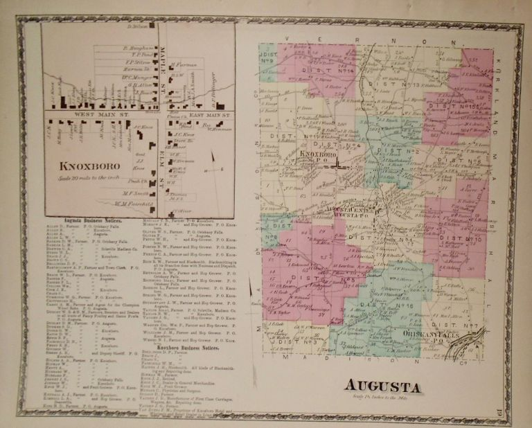 Map of Augusta, New York. D. G. BEERS