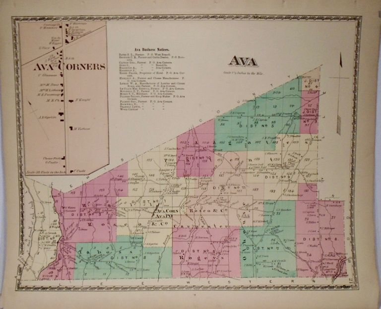 Map of Ava, New York. D. G. BEERS.
