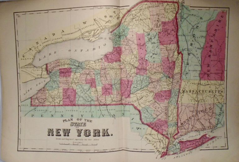 Map of the State of New York. D. G. BEERS.