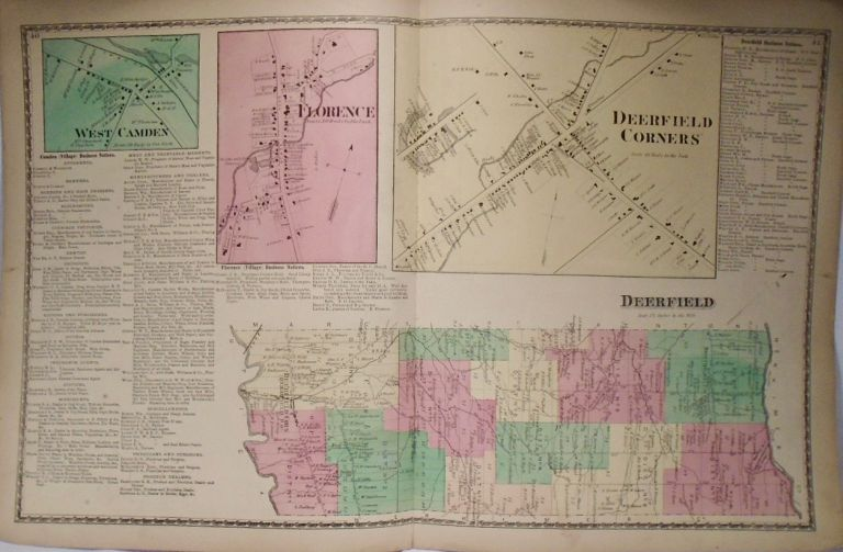 Map of Deerfield and Deerfield Corners, New York. D. G. BEERS