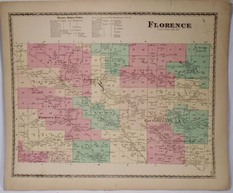 Map of Florence, New York. D. G. BEERS.
