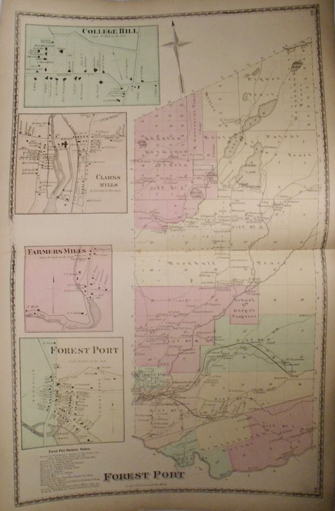 Map of Forest Port, New York. D. G. BEERS