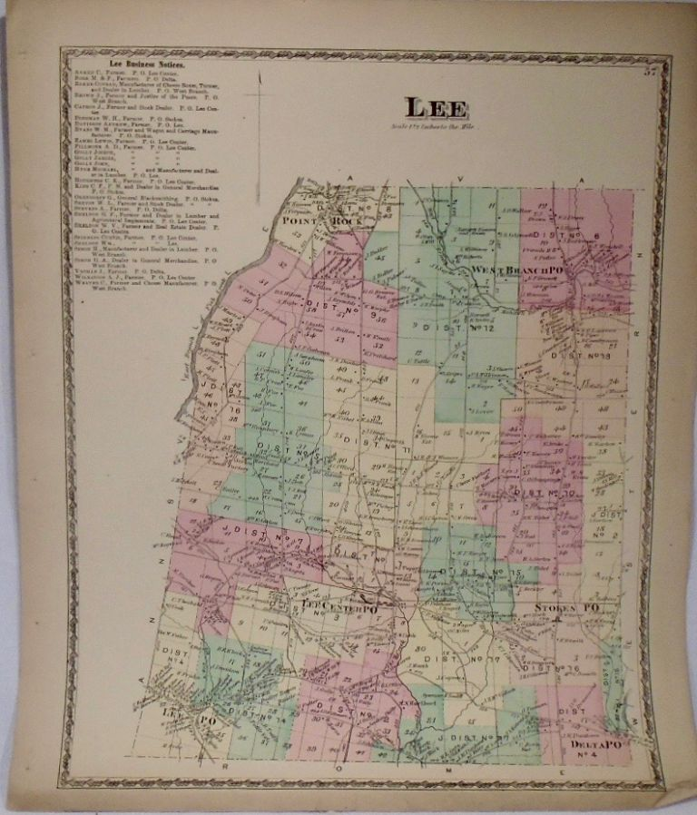 Map of Lee, New York. D. G. BEERS.