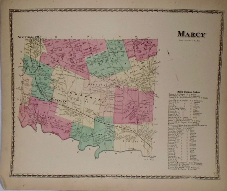 Map of Marcy, New York. D. G. BEERS