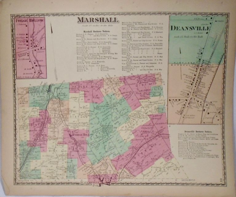 Map of Marshall, New York. D. G. BEERS.