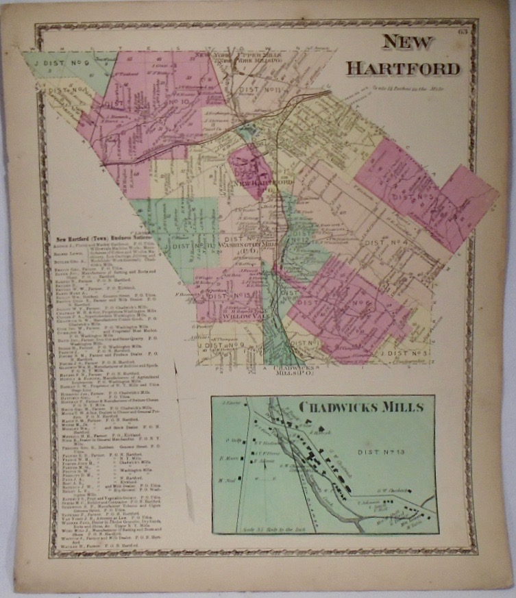 Map of New Hartford, New York. D. G. BEERS