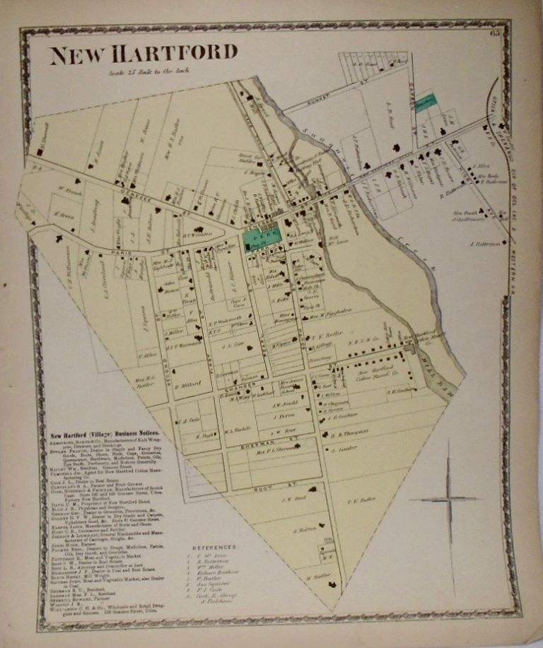 Map of New Hartford, New York. D. G. BEERS.