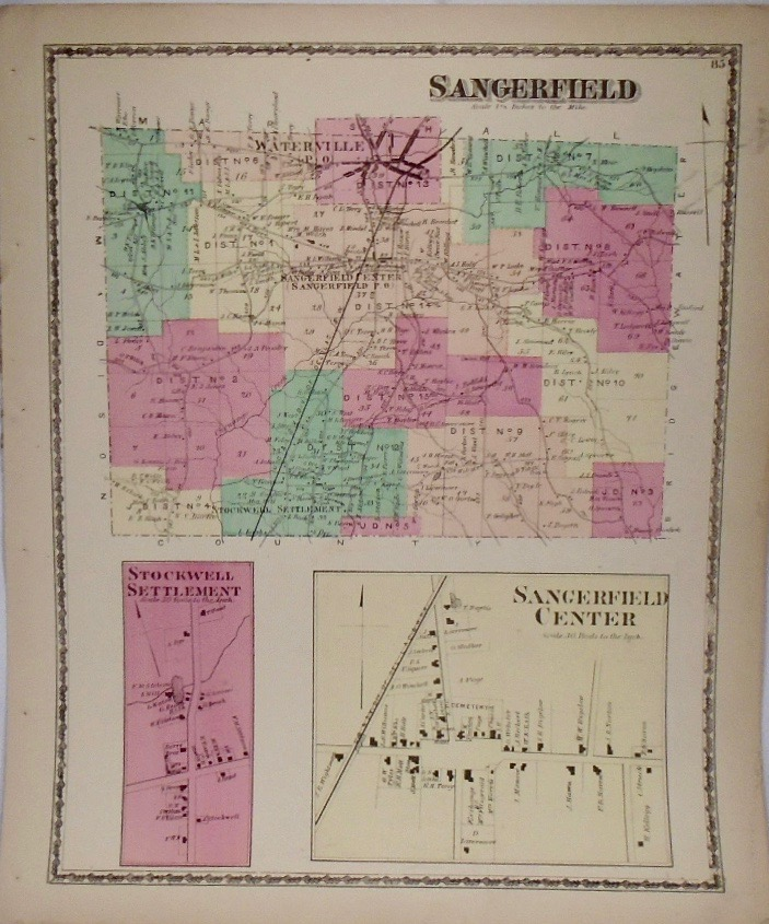 Map of Sangerfield, New York. D. G. BEERS.