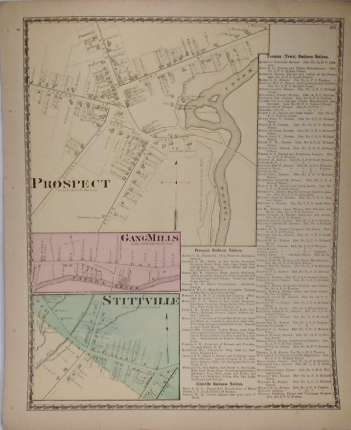 Map of Prospect, Gang Mills, and Stittville, New York. D. G. BEERS.