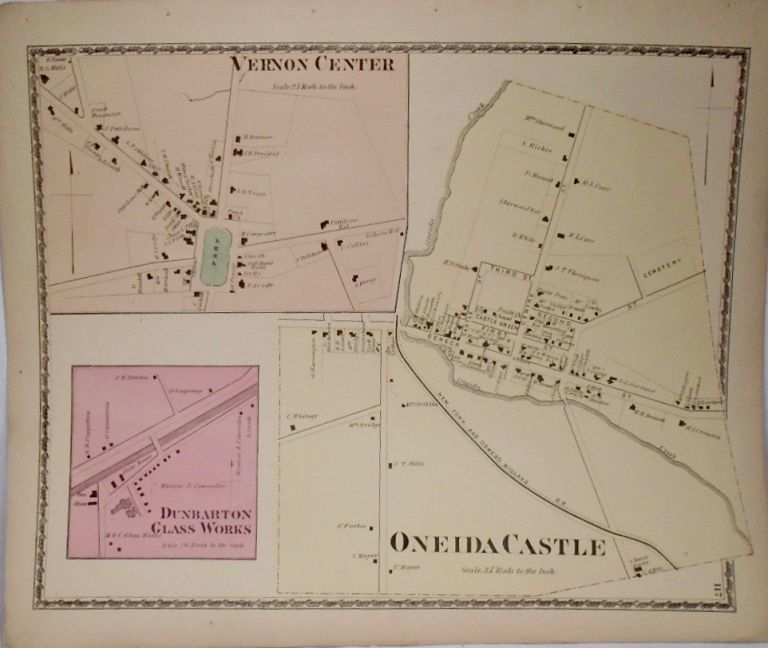 Map of Orveida Castle and Vernon Center, New York. D. G. BEERS