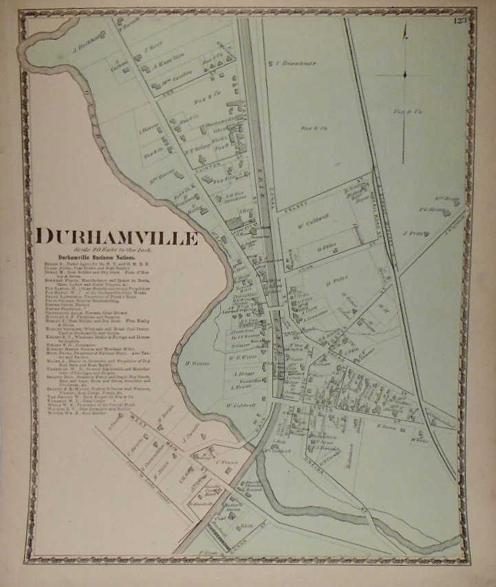 Map of Durhamville, New York. D. G. BEERS