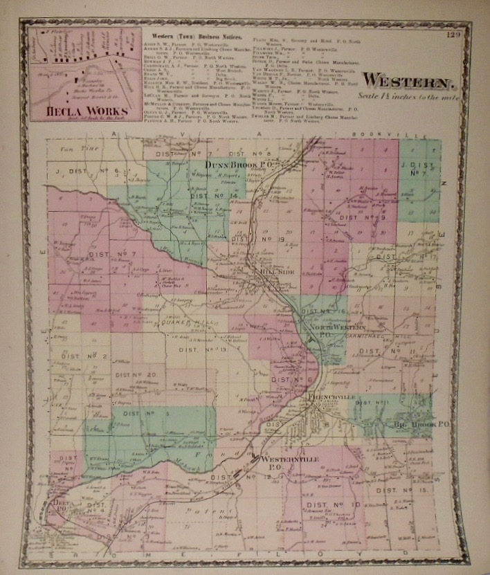Map of Western, New York. D. G. BEERS.