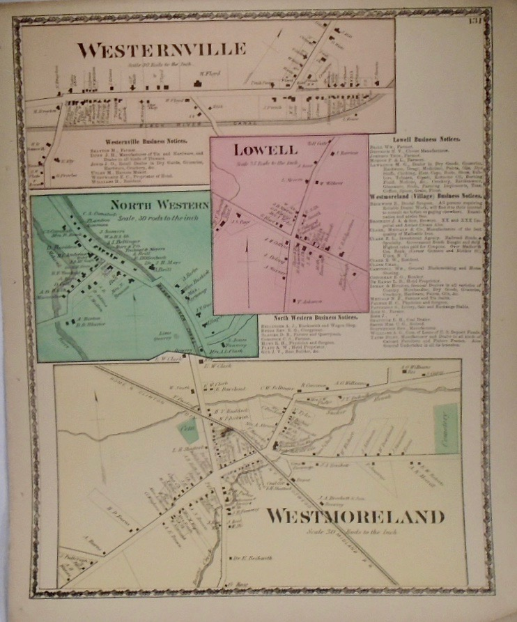 Map of Westernville and Westmoreland, New York. D. G. BEERS