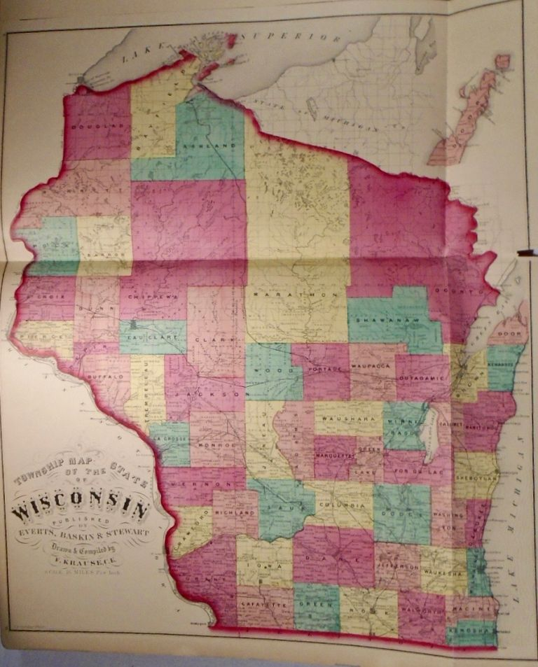 Township Map of the State of Wisconsin. Frank KRAUSE