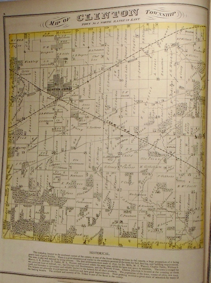 Map of Clinton Township, Wisconsin. Frank KRAUSE.