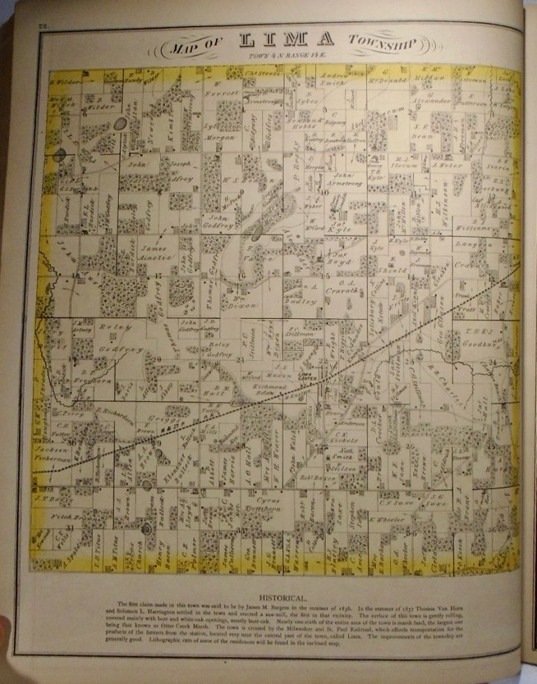 Map of Lima Township, Wisconsin. Frank KRAUSE.