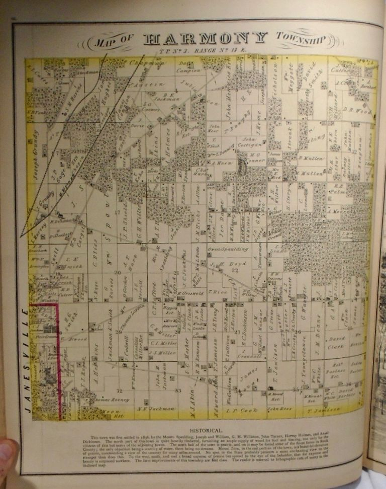 Map of Harmony Township, Wisconsin. Frank KRAUSE.