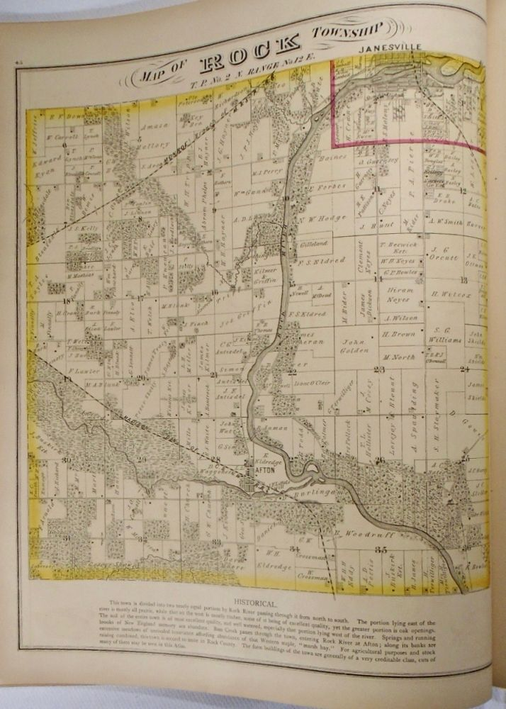 Map of Rock Township, Wisconsin. Frank KRAUSE.