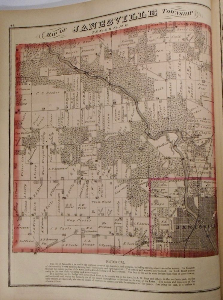 Map of Janesville Township, Wisconsin. Frank KRAUSE