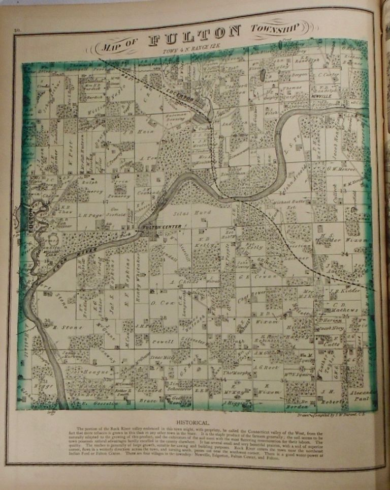 Map of Fulton Township, Wisconsin. Frank KRAUSE.