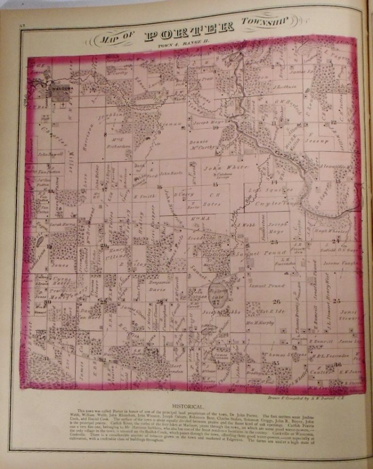 Map of Porter Township, Wisconsin. Frank KRAUSE.