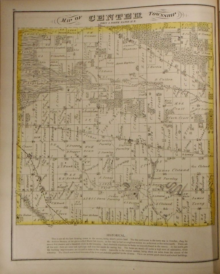 Map of Center Township, Wisconsin. Frank KRAUSE.