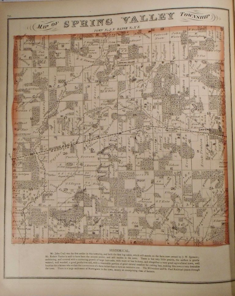 Map of Spring Valley Township, Wisconsin. Frank KRAUSE.