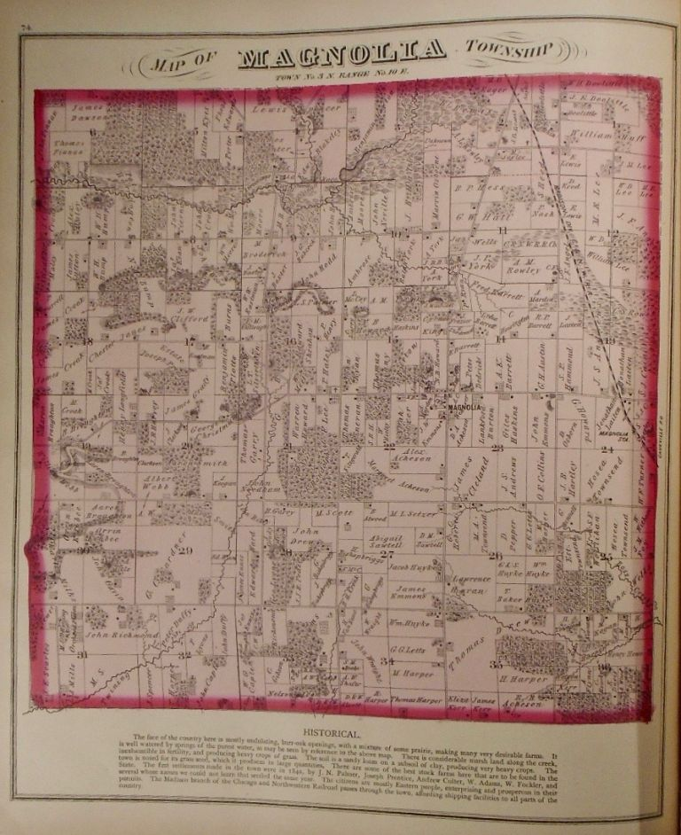 Map of Magnolia Township, Wisconsin. Frank KRAUSE.