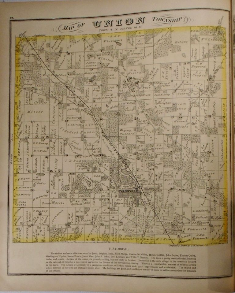 Map of Union Township, Wisconsin. Frank KRAUSE