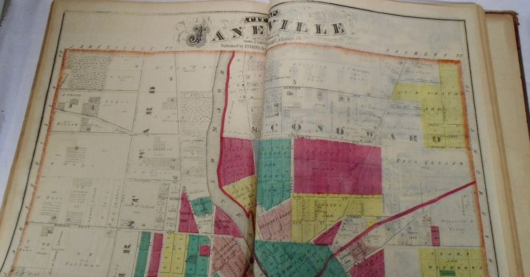 City Map of Janesville, Wisconsin. Frank KRAUSE