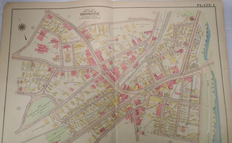 Map of Part of Brookline, Massachusetts. G. W. BROMLEY.