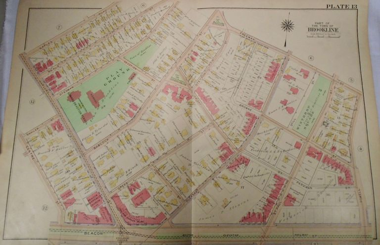 Map of Part of Brookline, Massachusetts. G. W. BROMLEY