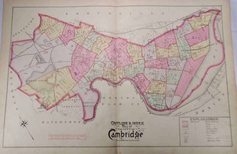 Map of the City of Cambridge, Massachusetts. G. W. BROMLEY