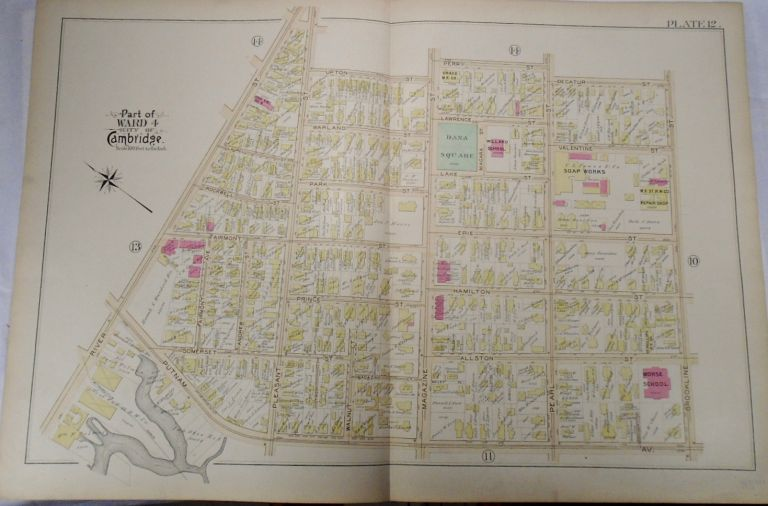 Map of Part of Ward 4 in Cambridge, Massachusetts. G. W. BROMLEY.