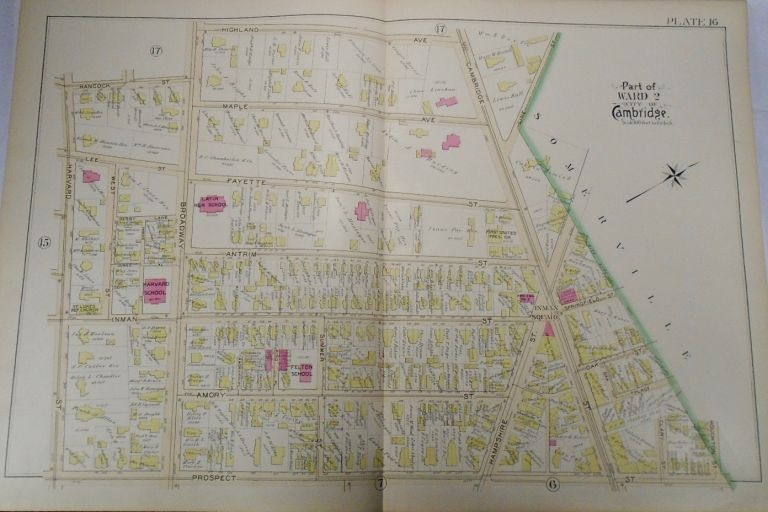 Map of Part of Ward 2 in Cambridge, Massachusetts. G. W. BROMLEY.
