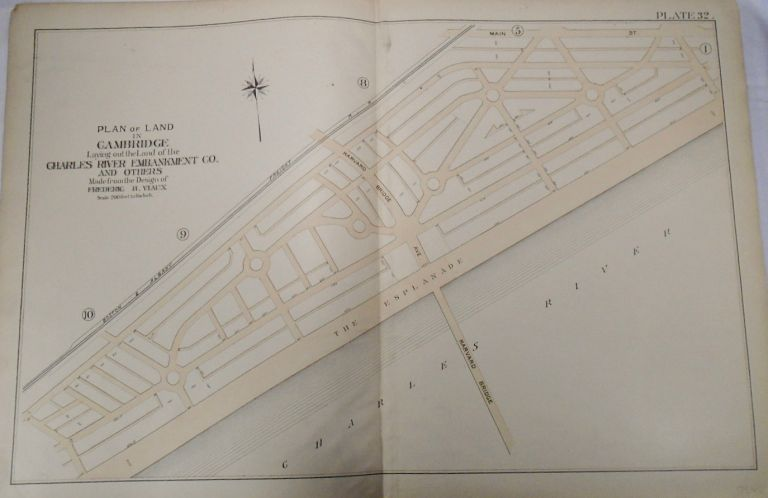 Plan of Land in Cambridge, Massachusetts laying out the Land of the Charles River Embankment Co.,...