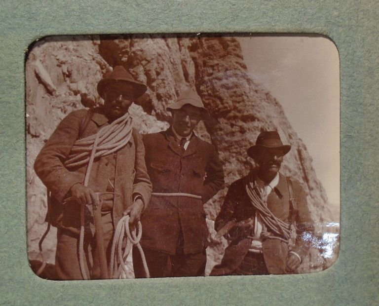 Mountain Climbing [Climbers] Photograph Album: Matterhorn, Alpine, European - 1920's. PHOTO ALBUM...