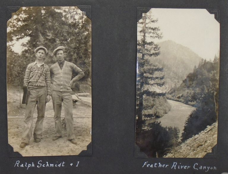 1920's Photograph Album of Army Air Corp Serviceman: American West, San Francisco, Nevada, , Hawaii, Angel Island, and Military. PHOTO ALBUM.