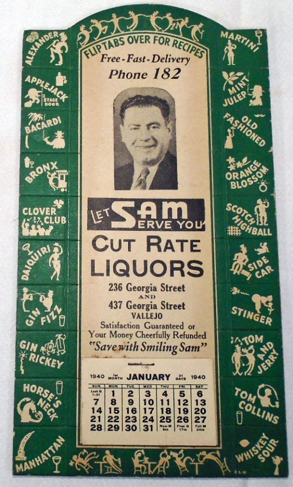 Let Sam Serve You [Cocktail Recipes]. Sam's Cut Rate Liquors