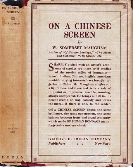 On A Chinese Screen. W. Somerset MAUGHAM