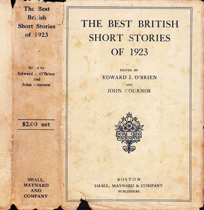 The Best British Short Stories of 1923. W. Somerset MAUGHAM, D. H. LAWRENCE, Thomas BURKE.
