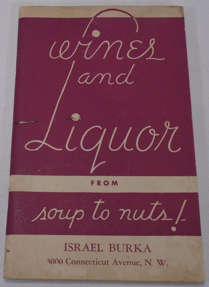 Wines and Liquor, From Soup to Nuts! [COCKTAIL RECIPES]. HOUSE OF STOVER