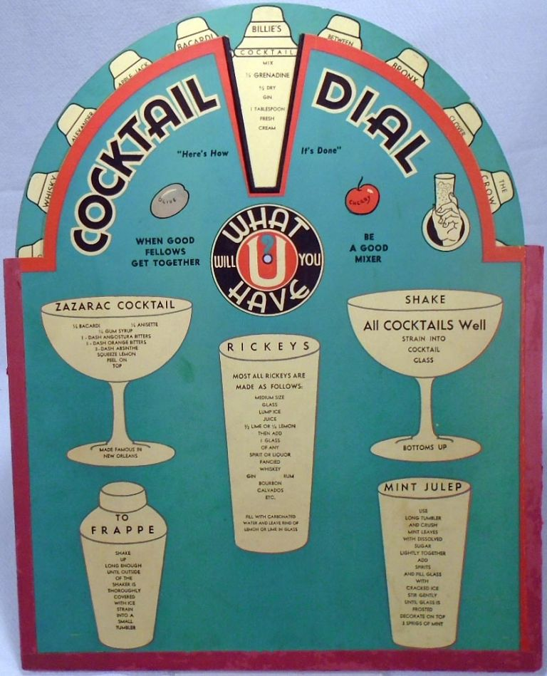 What Will You Have [COCKTAIL RECIPE WHEEL]. M. H. Larry LAWRENCE