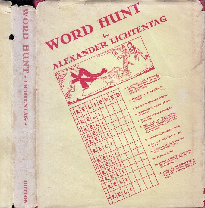 Word Hunt, An Interesting Game For Young and Old. Alexander LICHTENTAG