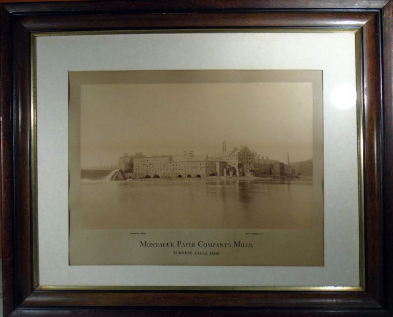 Large Sepia Toned Photograph of the Montague Paper Company Mill, Turners Falls, Massachusetts [20...