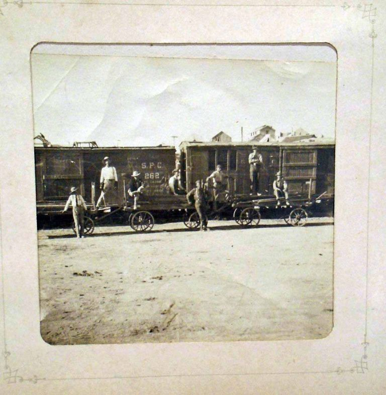 Cyanotypes Photograph Album of Boston and Oregon, Pacific Northwest, South Pacific Coast Railroad. PHOTOGRAPHY.